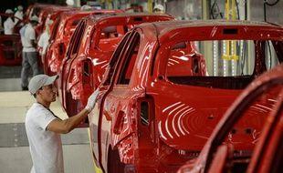 Un chaîne d'assemblage Nissan au Brésil (image d'illustration).