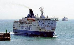 Un ferry de la compagnie DFDS Seaways.