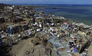 La commune de Jérémie, dans l'ouest d'Haïti, après le passage de l'Ouragan Matthew, le 10 octobre 2016.