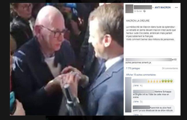 Ce post Facebook accuse à tort le retraité d'être un acteur américain.