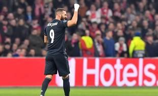 Benzema a marqué contre l'Ajax