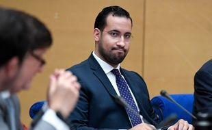 Alexandre Benalla lors de son audition devant la commission d'enquête du Sénat, mercredi 19 septembre.
