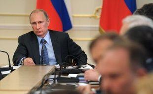 Le président russe Vladimir Poutine pendant un conseil des ministres, le 19 mars 2014.