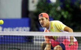 Lucas Pouille lors du Masters 1000 de Bercy, le 2 novembre 2016.