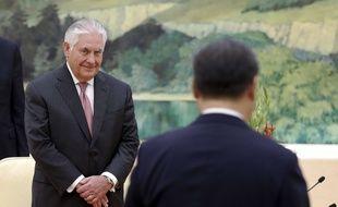 Le secrétaire d'Etat américain Rex Tillerson en visite en Chine le 30 septembre 2018.