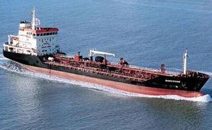 Illustration d'un pétrolier dans le Golfe de Guinée.