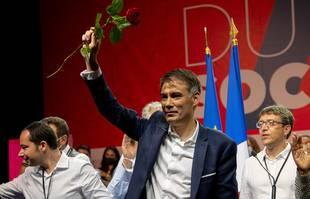 Le Premier secrétaire du PS, Olivier Faure, le dimanche 19 septembre au 79e Congrès du PS à Villeurbanne.
