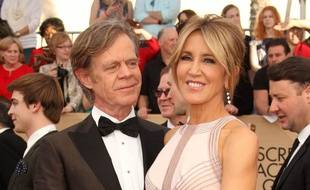 L'actrice Felicity Huffman et son époux William H. Macy à Los Angeles.