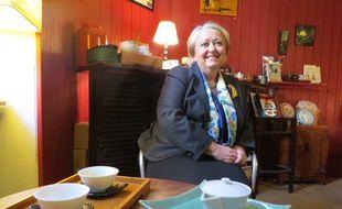 Sylviane Brisson, présidente du club des buveurs de thé, à Nantes