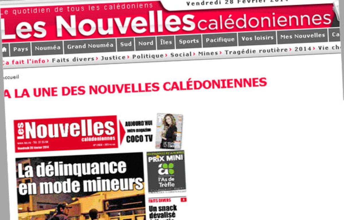 Les Nouvelles Calédoniennes. – Capture d'écran / 20 Minutes