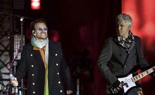 U2 en concert à Londres, en novembre 2017.