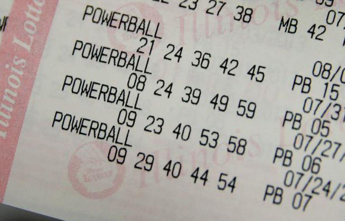 Illustration d'un ticket de loterie. – S. Olson/Getty Images/AFP