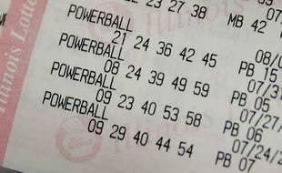 Illustration d'un ticket de loterie.