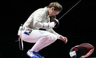 Manon Brunet, très émue après sa médaille de bronze à Tokyo.