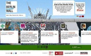 Capture d'écran du site berlintwitterwall.com