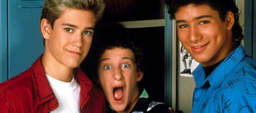 Dustin Diamond (au centre) interprétait Screech, jeune geel loufoque et maladroit, dans «Sauvés par le gong».