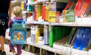 Les fournitures scolaires sont déjà en place pour la rentrée (image d'illustration).