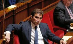 Christian Jacob, président du groupe parlementaire UMP à l'Assemblée nationale, le 21 mai 2014 dans l'hémicycle à Paris