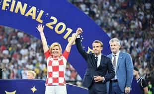 Le président de la France et la présidente de la Croatie