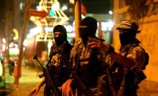 Des membres de la branche armée du Hamas lors d'une marche à Gaza, le 29 juin 2015