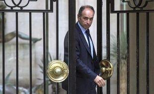 Jean-Francois Copé à la sortie de son domicile le 27 mai 2014 à Paris
