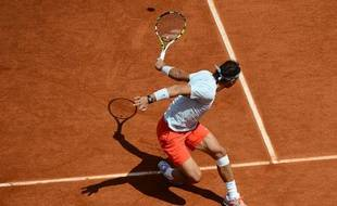 Rafael Nadal a souffert contre Brands, le 27 mai 2013 à Roland Garros.