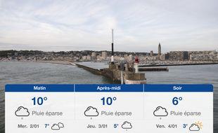 Météo Le Havre: Prévisions du mardi 1 janvier 2019