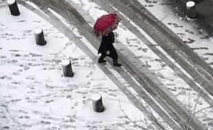 Paris sous la neige, le 19 décembre 2010.