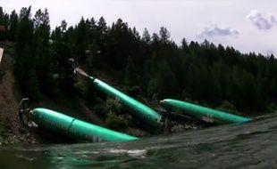 Capture d'écran d'une vidéo postée par David Shearer sur les fuselages tombés dans la rivière Clark aux Etats-Unis.