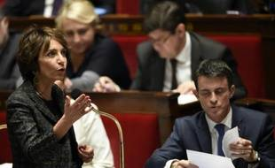 La ministre de la Santé et des Affaires sociales, Marisol Touraine lors de la session des questions au gouvernement, le 24 novembre 2015 à Paris