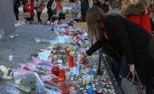Illustration marche de Noël et hommages deux jours après la  fusillade. Strasbourg le 13 décembre 2018.