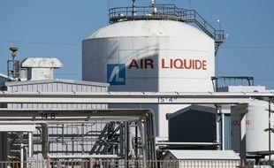 Le logo Air Liquide photographié à Dallas (Texas, Etats-Unis), le 12 novembre 2015.
