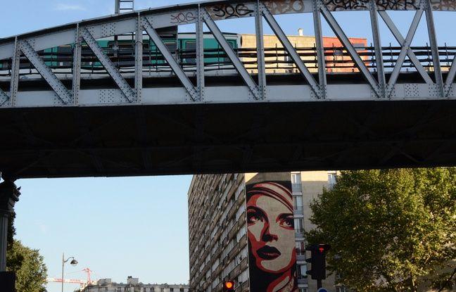 Fresque de Shepard Fairey dans le 13e à Paris