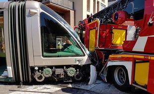 Accident entre un tramway et les pompiers le 27 août 2016 à Strasbourg
