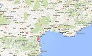 Localisation de Perpignan