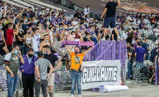 Les Indians Tolosa, groupe de supporters ultras du TFC. Illustration.