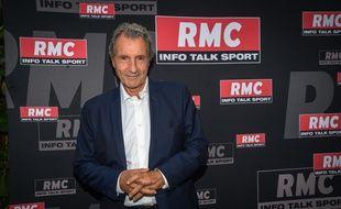 Jean Jacques Bourdin à la conférence de rentrée de RMC info talk sport a Paris le 28 août 2019.
