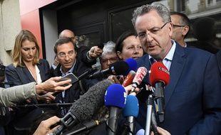 Le ministre de la Cohésion des territoires Richard Ferrand dans le Finistère le 11 juin 2017.