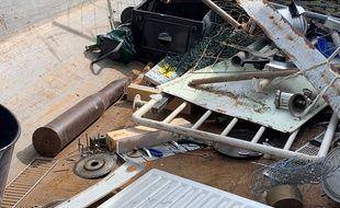 L'obus retrouvé au Smictom d'Alsace Centrale à Scherwiller fait 95 cm.