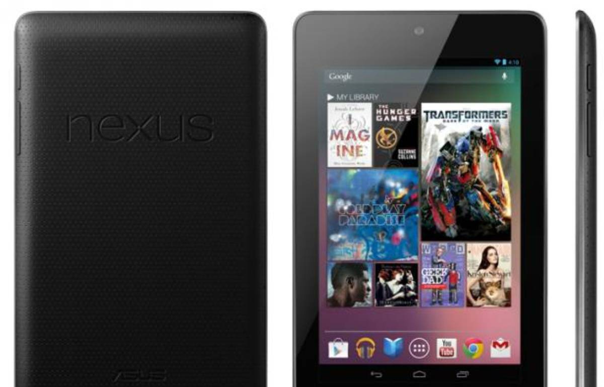 Nexus 7, une tablette 7 pouces de Google et Asus, dévoilée le 27 juin 2012. – DR
