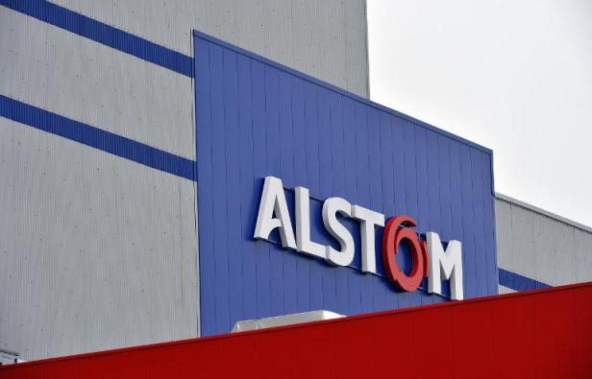 Le logo du groupe Alstom – Georges Gobet AFP