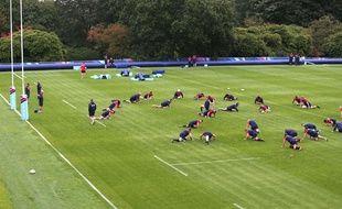 Les Anglais à l'entraînement au Pennyhill Park le 14 septembre 2015.