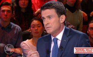 Capture d'écran de l'interview de Manuel Valls sur Canal + mardi soir.