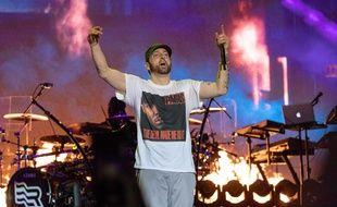 Le rappeur Eminem en concert dans le Tennessee en 2018