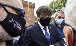 Carles Puigdemont, lors d'un passage à Perpignan en 2020. (archives)