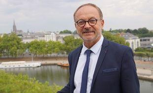 Joël GUERRIAU, Sénateur-Maire de Saint-Sébastien-sur-Loire et Co-président du groupe UCD à Nantes Métropole, ici sur les toits de Nantes Métropole le 13 septembre 2016.