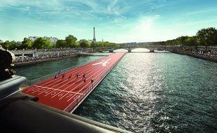 En soutien à la candidature Paris 2024, Paris va se transformer en «plus grand terrain de sport au monde» les 23 et 24 juin avec notamment une piste d'athlétisme flottante entre le pont Alexandre III et le pont des Invalides.