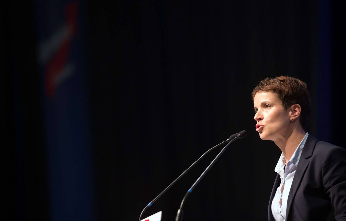 Frauke Petry, dirigeante du parti anti-immigration Alternative pour l'Allemagne (AfD). – Federico Gambarini/AP/SIPA