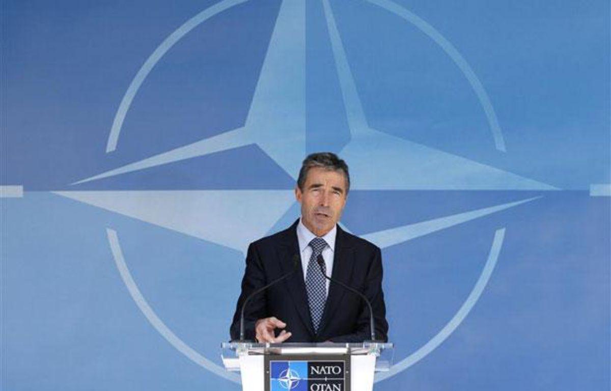 Anders Fogh Rasmussen, secrétaire général de l'Otan, à Bruxelles, le 26 juin 2012. – REUTERS/Francois Lenoir