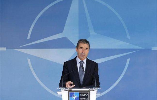 Anders Fogh Rasmussen, secrétaire général de l'Otan, à Bruxelles, le 26 juin 2012.